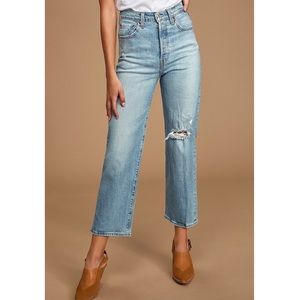 Levi's Ribcage Straight High Waisted Crop Jeans 25